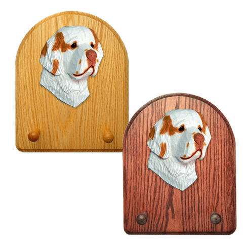 Clumber Spaniel Key Rack-Orange