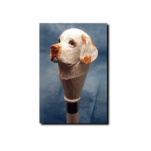 Clumber Spaniel Walking Stick, Hiking Staff