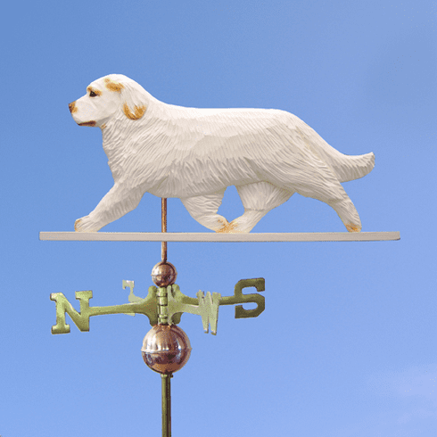 Clumber Spaniel Weathervane-Orange