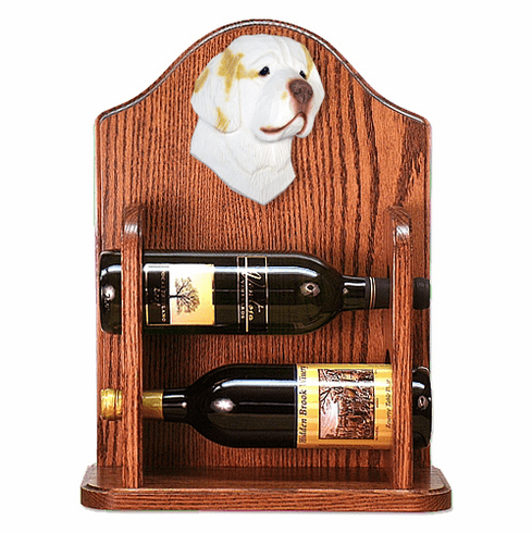 Clumber Spaniel Wine Rack-Lemon