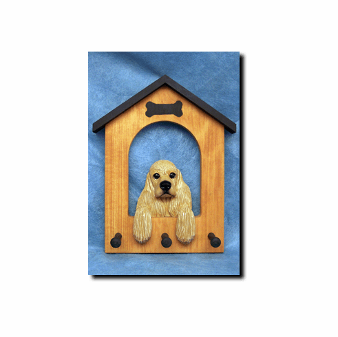 Cocker Spaniel American Dog House Leash Holder