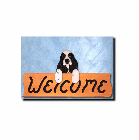 Cocker Spaniel American Welcome Sign