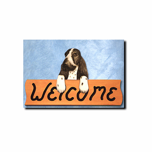 Cocker Spaniel English Welcome Sign