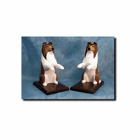 Collie Bookends