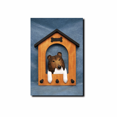 Collie Dog House Leash Holder