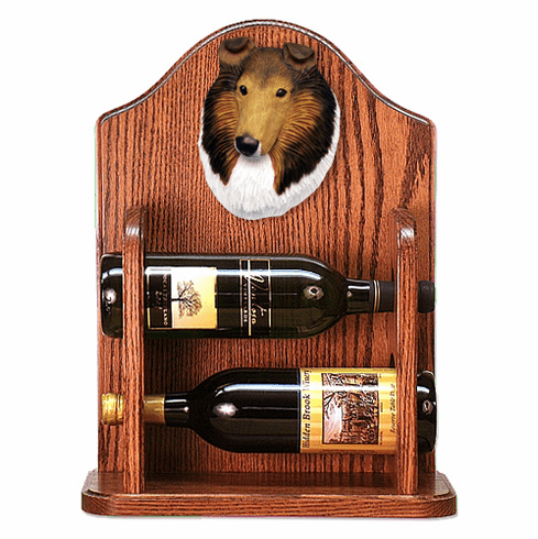 Collie (rough) Wine Rack -Sable