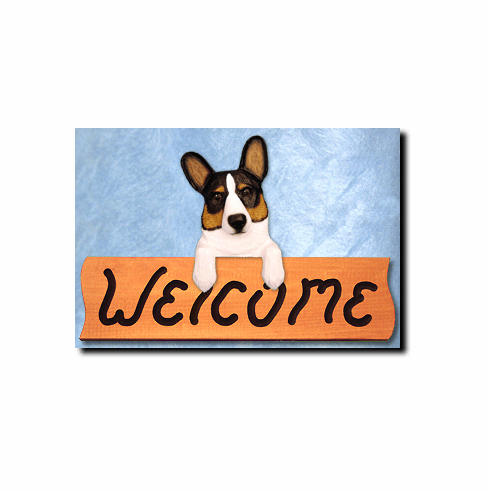 Corgi Cardigan Welsh Welcome Sign