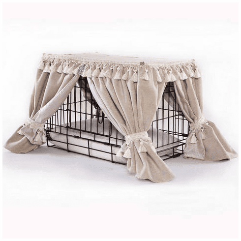 Cream Glimmer Kennel Couture Pet Bed