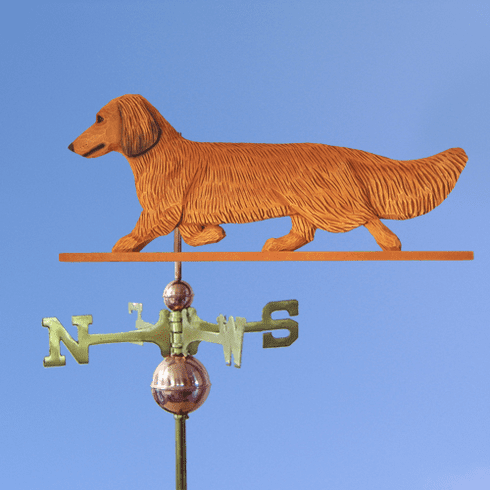 Dachshund (long hair) Weathervane-Red