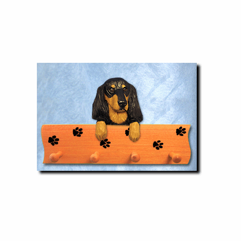 Dachshund Longhair Dog Four-Peg Hang Up