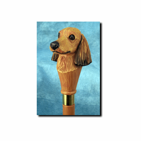 Dachshund Longhair Walking Stick, Hiking Staff