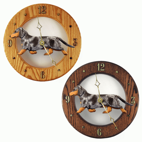 Dachshund (smooth) Wall Clock-Blue Dapple