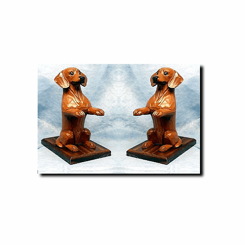 Dachshund Smoothcoat Bookends