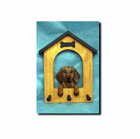 Dachshund Smoothcoat Dog House Leash Holder