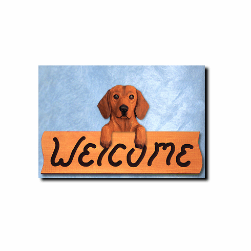 Dachshund Smoothcoat Welcome Sign