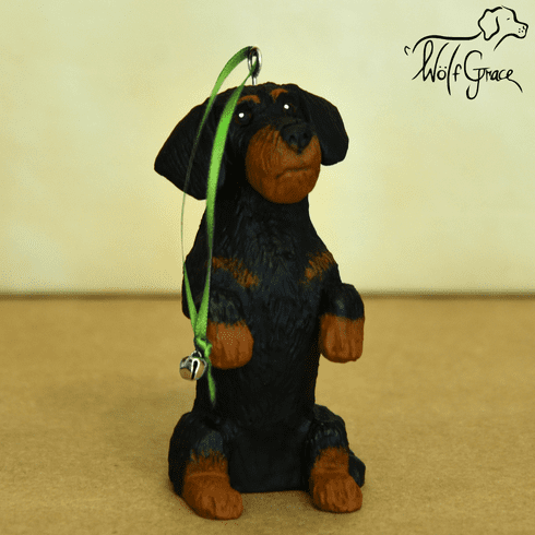 Dachshund Wirehair Christmas Ornament