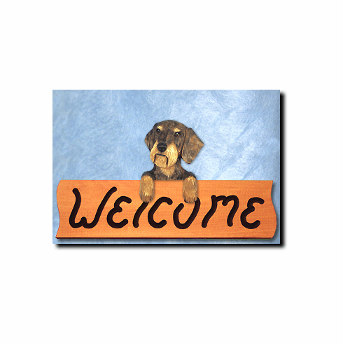 Dachshund Wirehair Welcome Sign