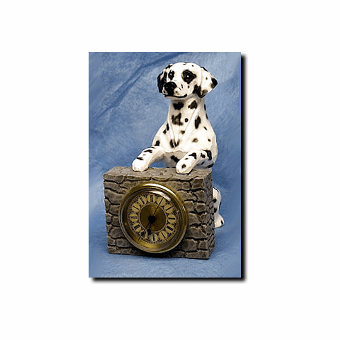 Dalmatian Mantle Clock