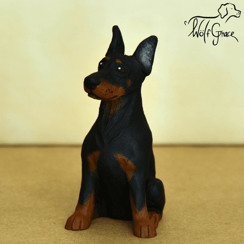 Doberman Pinscher Cropped Figurine