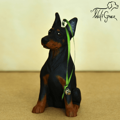 Doberman Pinscher 3-Dimenional Cropped Christmas Ornament
