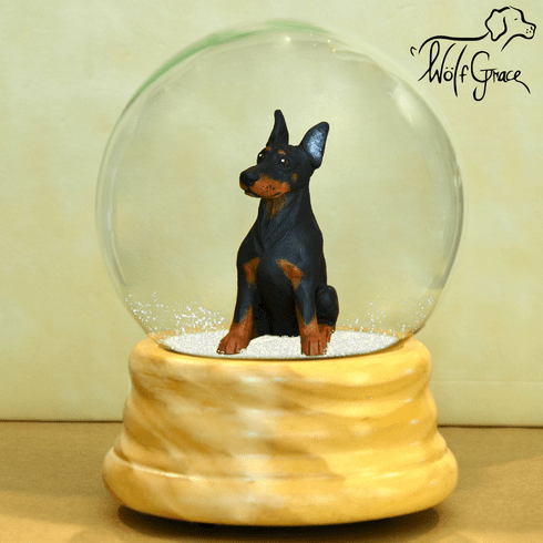 Doberman Pinscher Snow Globe