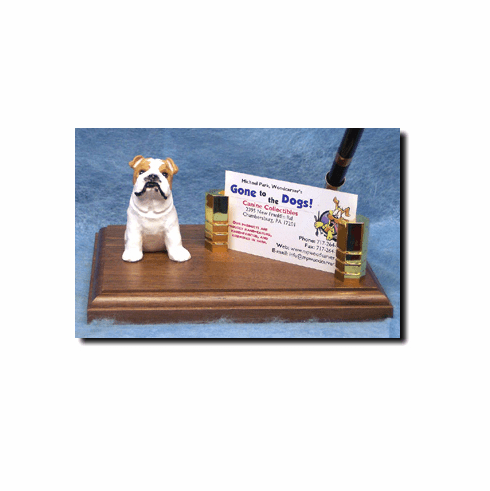 English Bulldog Deluxe Desk Set