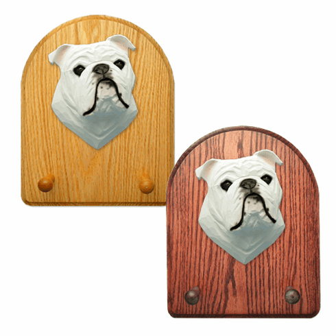 English Bulldog Key Rack-White