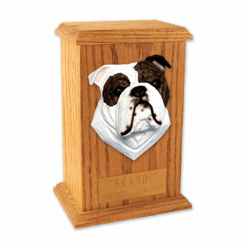 English Bulldog Memorial Urn