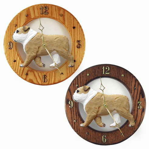 English Bulldog Wall Clock-Tan