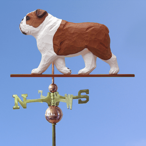 English Bulldog Weathervane-Red