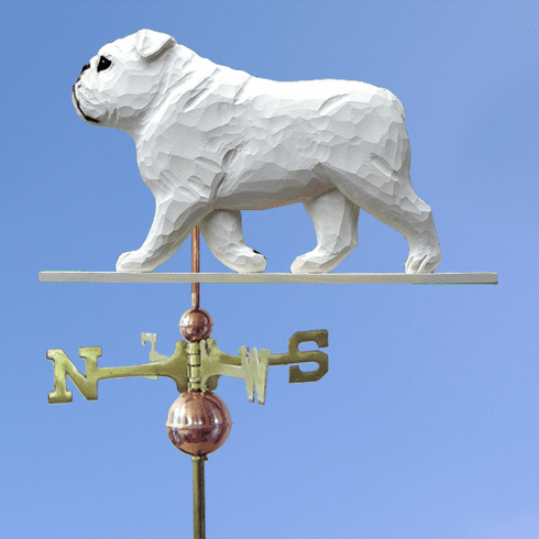 English Bulldog Weathervane-White