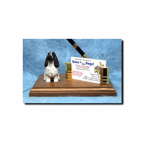 English Cocker Spaniel Deluxe Desk Set