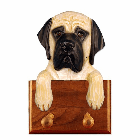 English Mastiff Walnut Dog Leash Holder