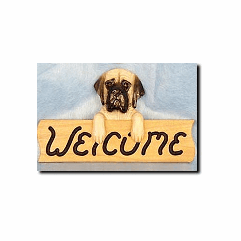 English Mastiff Welcome Sign