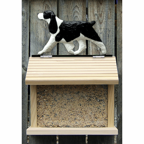 English Springer Spaniel Bird Feeder-Black