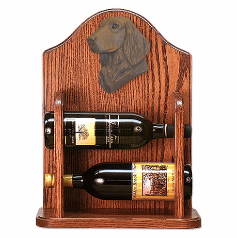 Flat Coated Retriever Wine Rack -Liver