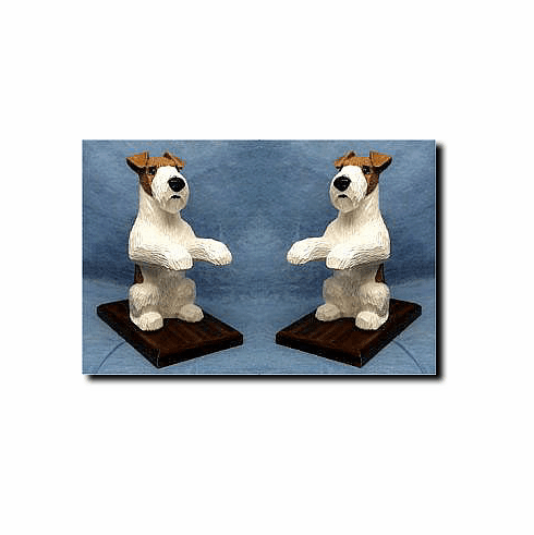 Fox Terrier WireHair Bookends
