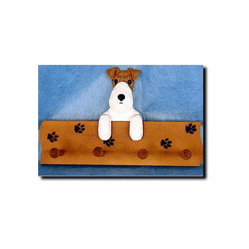 Fox Terrier Wirehair Dog Four-Peg Hang Up