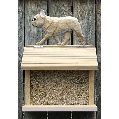 French Bulldog Bird Feeder-Fawn