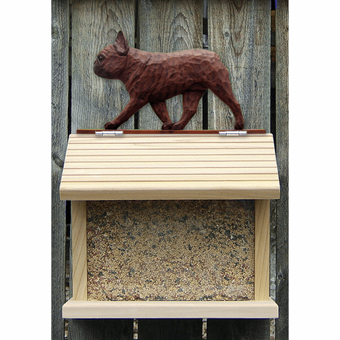 French Bulldog Bird Feeder-Red Brindle