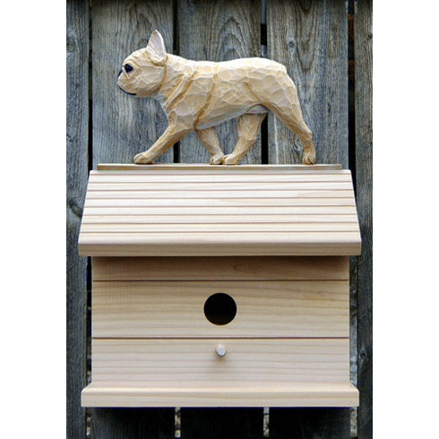 French Bulldog Bird House-Fawn