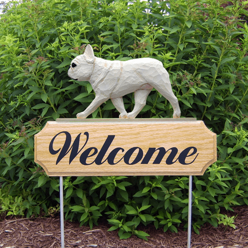 French Bulldog DIG Welcome Stake-Cream