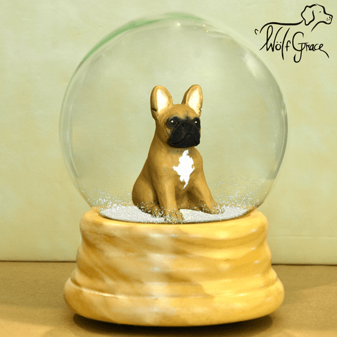 French Bulldog Snow Globe