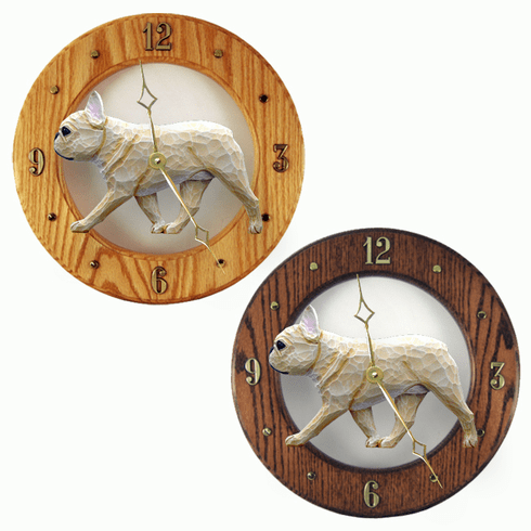 French Bulldog Wall Clock-Fawn