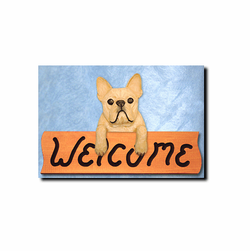 French Bulldog Welcome Sign
