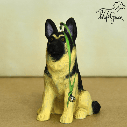 German Shepherd Dog 3-Dimenional Christmas Ornament