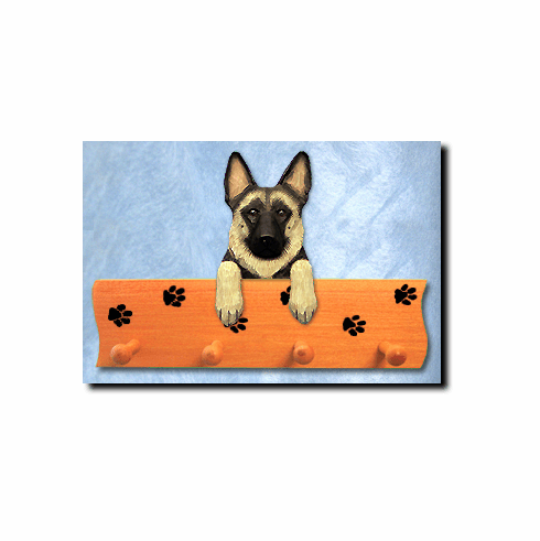 German Shepherd Dog Four-Peg Hang Up