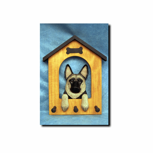 German Shepherd Dog House Leash Holder