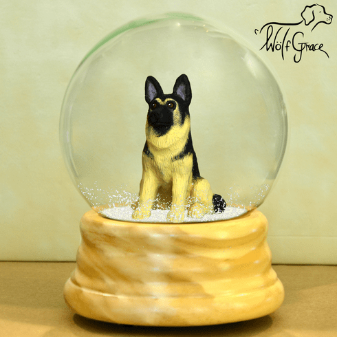 German Shepherd Dog Snow Globe