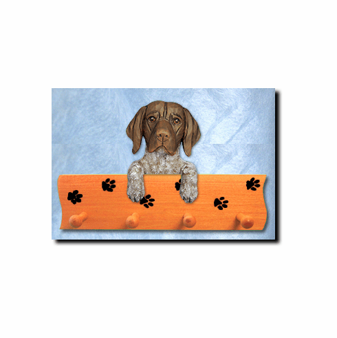 German Shorthaired Pointer Dog Four-Peg Hang Up